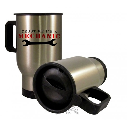 Personalised Travel Mug Silver