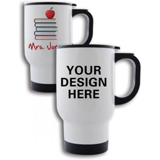 Personalised Travel Mug White