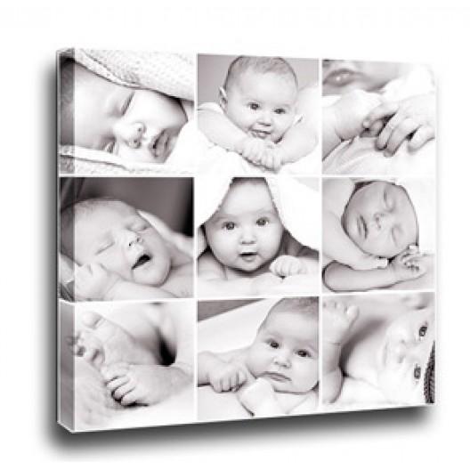 Collage Canvas - 9 photo square